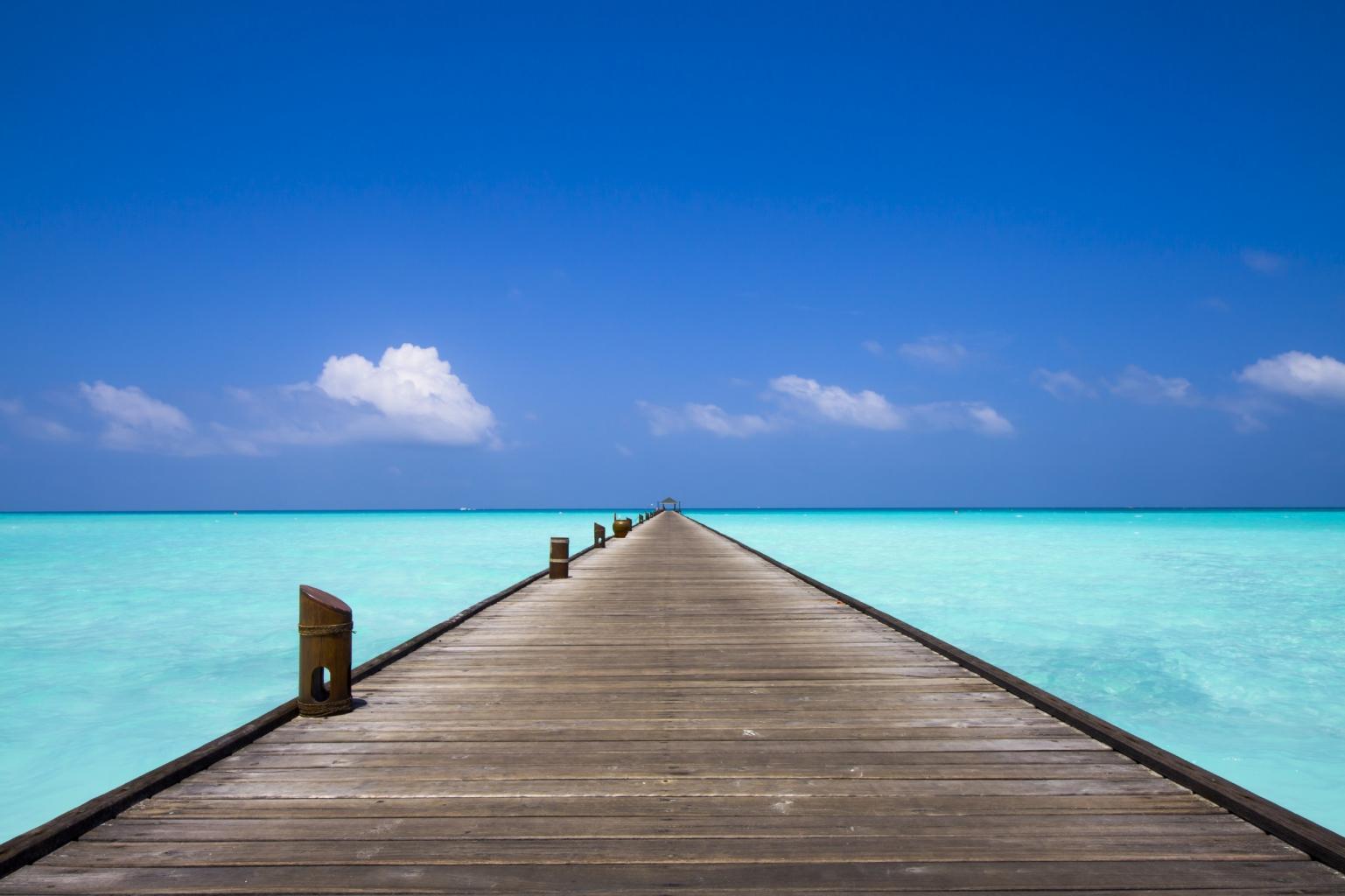 Malediven Steg
