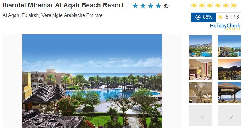 Bild Iberotel Miramar Al Aqah Beach Resort